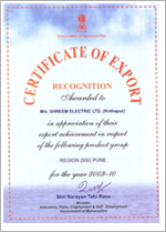 certificate of export